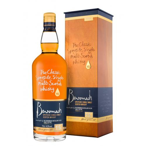 Benromach 15 Year Old Single Malt Scotch Whisky - 70cl 43%