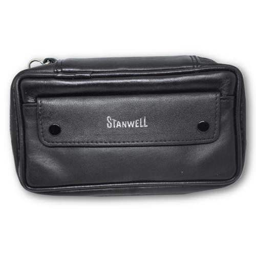 Stanwell Leather Bag Two Pipes / Tobacco Pouch
