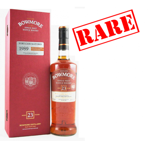 Bowmore 23 Year Old 1989 Port Matured Single Malt Whisky - 70cl 50.8%