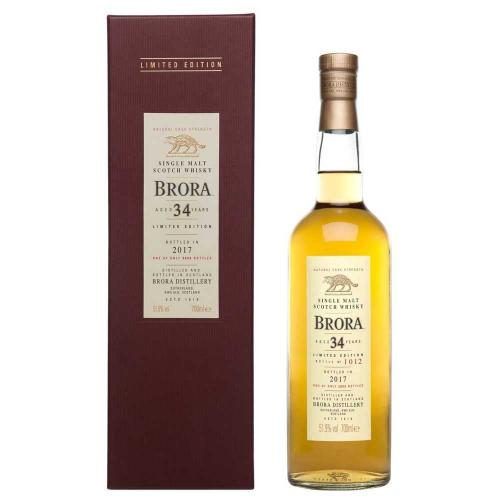 Brora 34 Year Old 2017 Release Single Malt Scotch Whisky - 70cl 51.9%