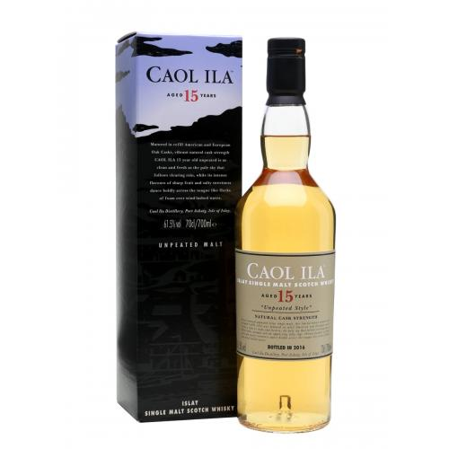 Caol Ila 15 Year Old Unpeated Single Malt Scotch Whisky - 70cl 61.5%
