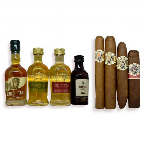 Find Your AVO Pairing Sampler - 4 Cigars with Rum and Whisky