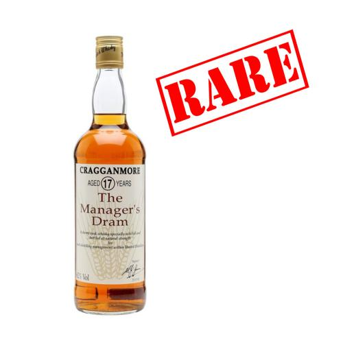 Cragganmore 17 Year Old Managers Dram Whisky - 70cl 62%
