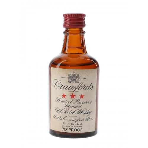 Crawfords 3 Star Bottled 1960s Miniature - 5cl 40%