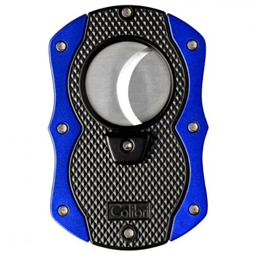 Colibri Monza Cigar Cutter - Matte Black & Blue (Discontinued)