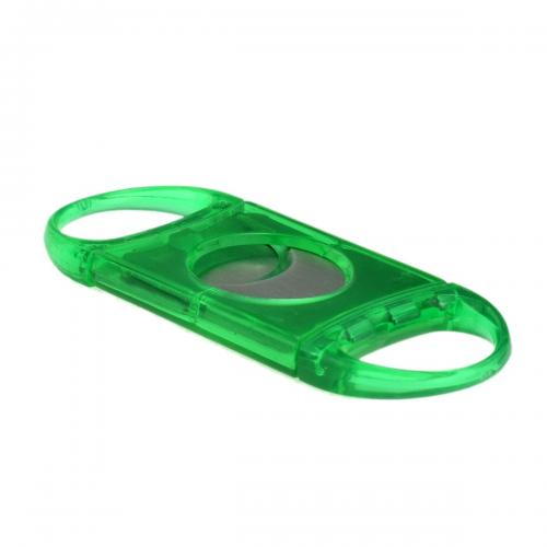 Two Finger Green Double Bladed 58 Ring Gauge Cigar Cutter