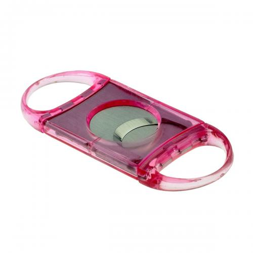 Pink Double Bladed Cigar Cutter