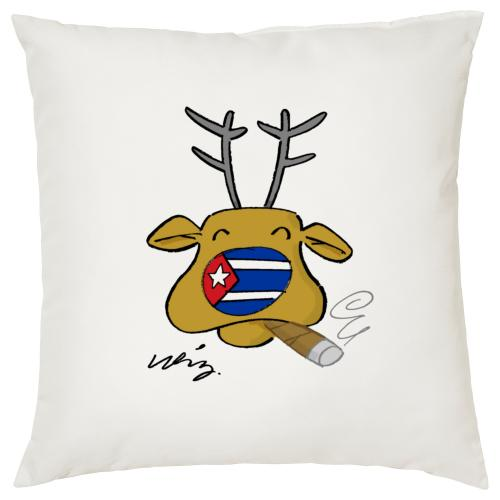 Reindeer - Cigar Themed Cushion