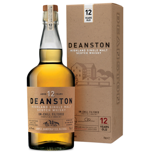 Deanston 12 Year Old Single Malt Scotch Whisky - 70cl 46.3%