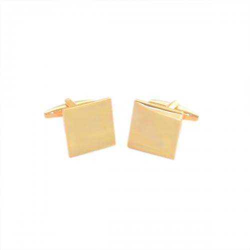 Square Gold Plated Personalised Cufflinks