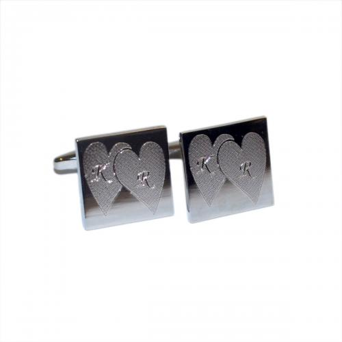 Love Heart Personalised Initials Cufflinks
