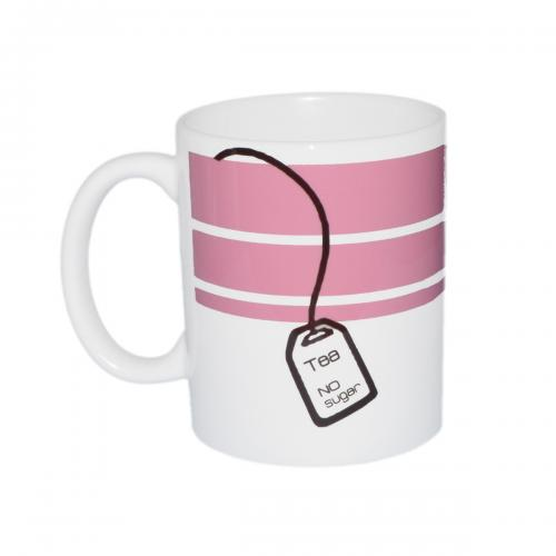 Pink Tea or Coffee Personalised Ceramic Mug