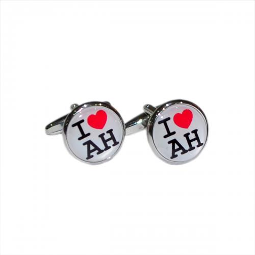 "Bespoke Romantic ""I Love\"" Personalised Cufflinks"