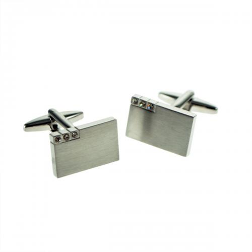 Satin Brushed Metal Finish Personalised Cufflinks