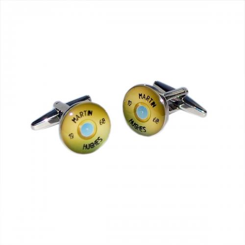 Shotgun Cap Personalised Cufflinks