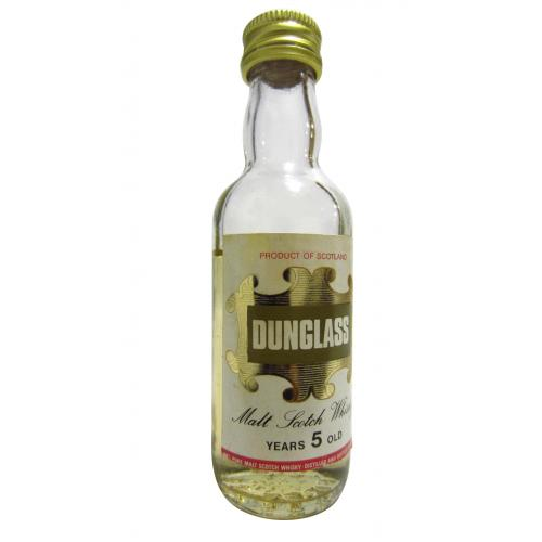 Dunglass 5 Year Old Malt Scotch Whisky Miniature - 5cl 40%