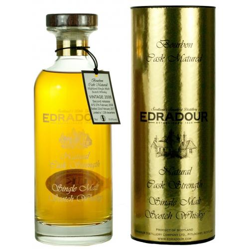 Edradour 10 Year Old 2008 Bourbon Cask Ibisco Decanter Whisky - 70cl 57%