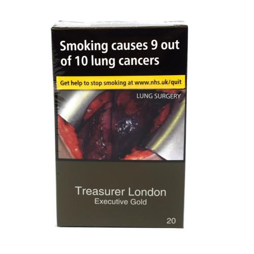 Treasurer London - Executive Gold - 1 pack of 20 cigarettes (20)