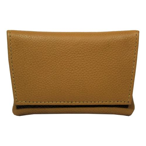 GBD Mini Tan Leather Patterned Roll Your Own Pouch (GBDP02)