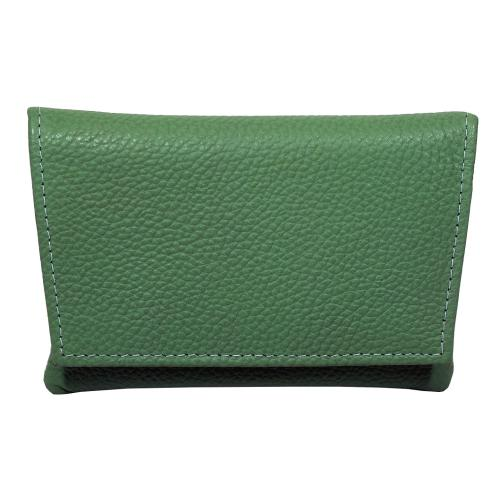 GBD Mini Green Leather Patterned Roll Your Own Pouch (GBD04)
