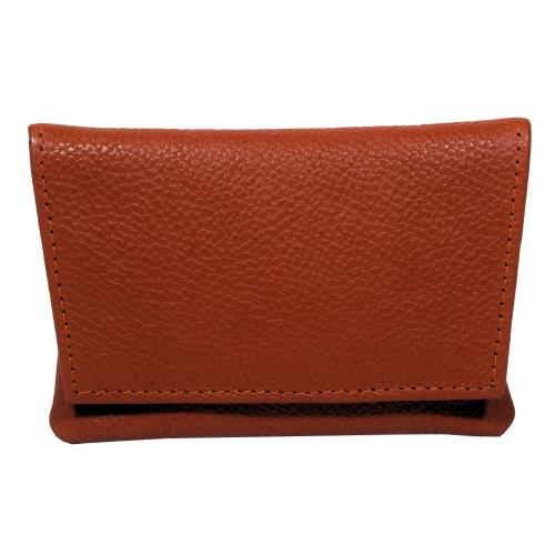 GBD Mini Orange Leather Patterned Roll Your Own Pouch (GBD05)