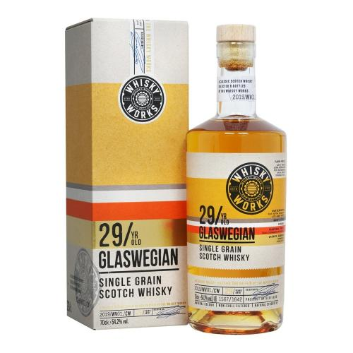 Whisky Works Glaswegian 29 Year Old Single Grain Scotch Whisky - 70cl 54.2%