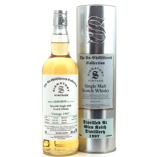 Glen Keith 1997 Signatory Vintage (The Un-Chillfiltered Collection) Single Malt Whisky - 70cl 46%