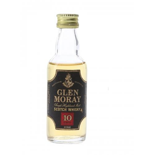 Glen Moray 10 Year Old Bottled 1970s Whisky Miniature - 5cl 40%