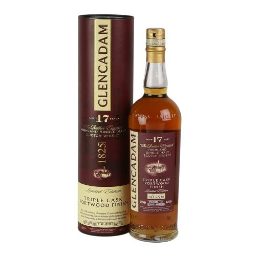 Glencadam 17 Year Old Triple Cask Portwood Finish - 70cl 46%
