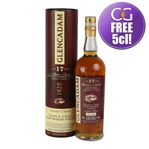 Glencadam 17 Year Old Triple Cask Portwood Finish Single Malt Whisky - 70cl 46%