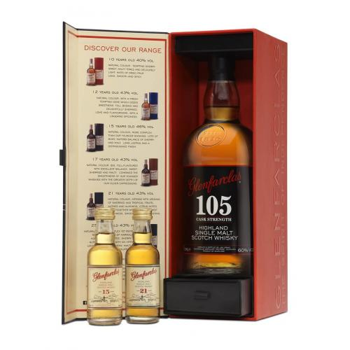 Glenfarclas 105 Gift Pack - 70cl Bottle with Miniatures