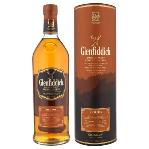 Glenfiddich 14 Year Old Rich Oak Single Malt Scotch Whisky - 70cl 40%