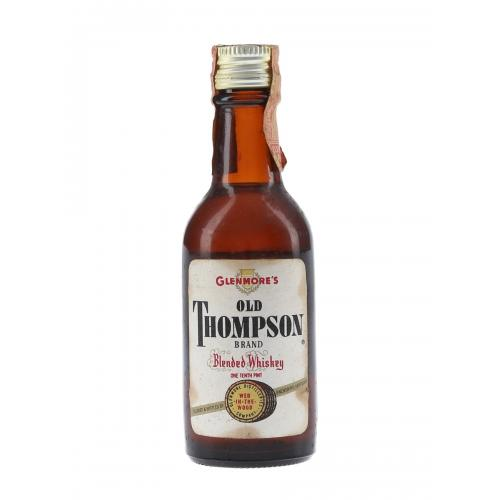 Glenmores Old Thompson Brand 4 Year Old Bottled 1950s-1960s Whisky Miniature - 4.7cl 43%