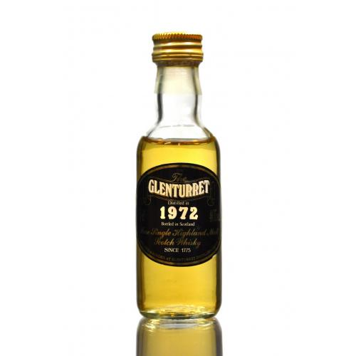 Glenturret 1972 Distilled Single Malt Scotch Whisky Miniature - 5cl 40%