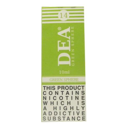 DEA Green Sphere Vape E- Liquid 10ml 14mg