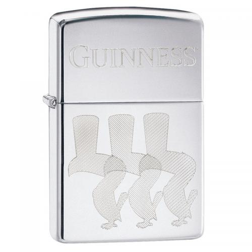 Zippo - High Polish Chrome Guinness Toucans - Windproof Lighter