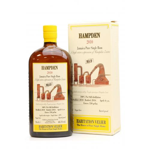 Hampden Estate 6 Year Old 2010 Pure Jamaican Rum - 70cl 67%