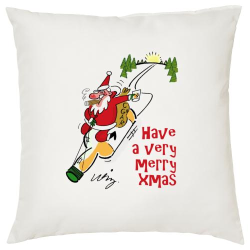 Have a very Merry Xmas - Cigar Themed Cushion