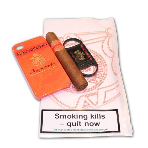 Macanudo Mareva Cigar and Cutter Set - iPhone 4S Orange Case