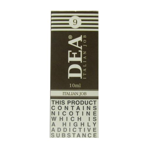 DEA Italian Job Vape E- Liquid 10ml 09mg