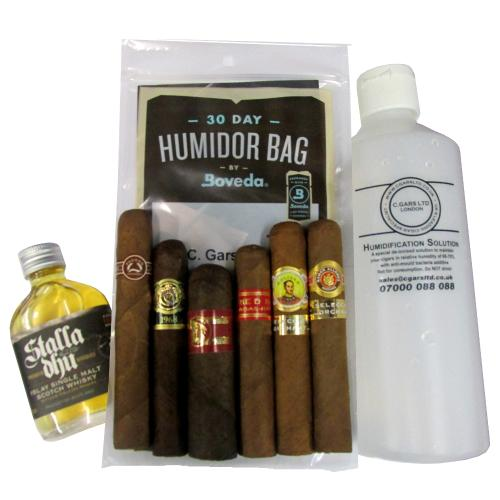 James\'s Winter Sampler - 6 Cigars and a Dram