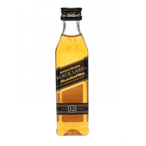 Johnnie Walker Black Label Blended Scotch Whisky - 5cl 40%