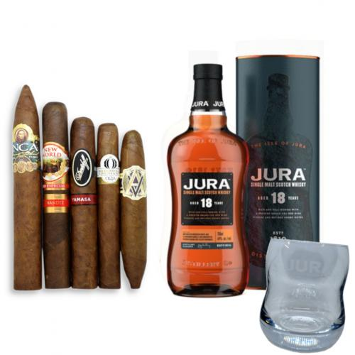 Isle of Jura 18 Year Old + New World Selection Pairing Sampler