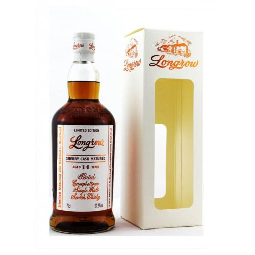 Longrow 14 Year Old Sherry Wood Single Malt Scotch Whisky - 70cl 57.8%