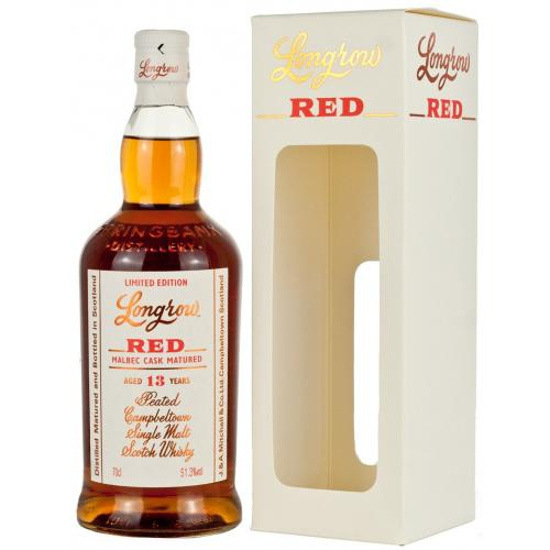 Longrow Red 13 Year Old Malbec Cask Matured Single Malt Whisky - 70cl 51.3%