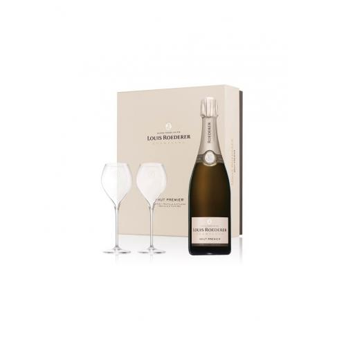 Louis Roederer Brut Premier Champagne & Glass Gift Box - 75cl 12%