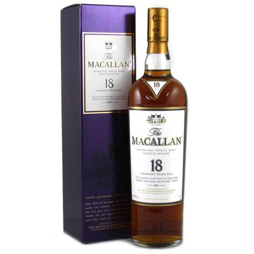 Macallan 18 Year Old 2016 Release Whisky - 70cl 43%