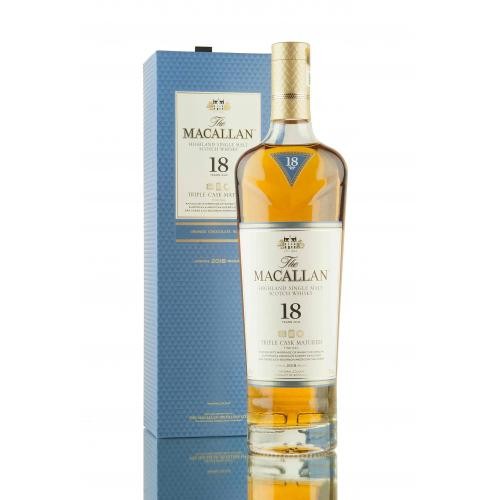 Macallan 18 Year Old Triple Cask Single Malt Scotch Whisky - 70cl 43%