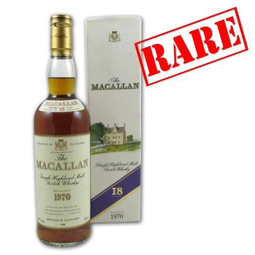 Macallan 18 Year Old 1970 Whisky - 75cl 43%