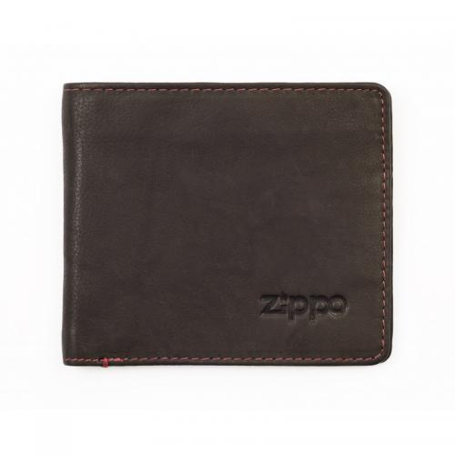 Zippo Leather Bi-Fold Wallet With Coin Compartment - Mocha